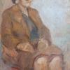 Moters portretas, XXa. 2-d-metis., 69 x 50 cm, kartonas/tempera