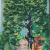 Medis prie kelio, 1949, spalv. litografija, 28 x 21 cm