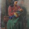 Motina, 1952, spalv. litografija, 28 x 21 cm