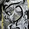 Demono atėjimas, 2003, pop., pastelė, tušas, 58x40 cm