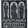Parodos plakatas, 1982, medžio, linoraiž., 25x66 cm