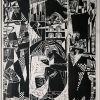 Atsisveikinimas, 1969, linoraižinys, 3/25, 58x50,5 cm
