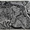 Porelė, 1938, medžio raižinys, 10x13 cm