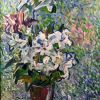 Lelijos, 2003, drb., akrilas, 72x62 cm